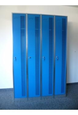 Garderobenschrank 4 Abteile nebeneinander